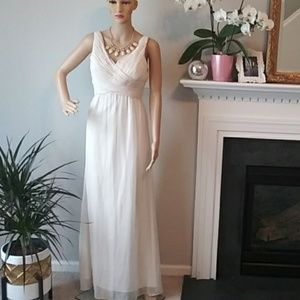 Anthro BHLDN Angie dress ivory choffon goddess